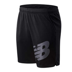New Balance Mens Tenacity Sweat Shorts Black S, Black, rebel_hi-res