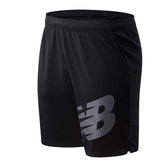 New Balance Mens Tenacity Sweat Shorts Black M, Black, rebel_hi-res