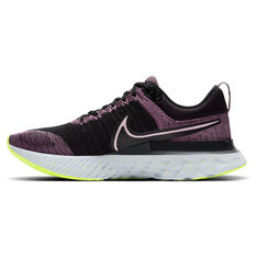 Nike React Infinity Run Flyknit 2 Womens Running Shoes Pink/Black US 6, Pink/Black, rebel_hi-res