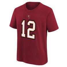 Tampa Bay Buccaneers Tom Brady Kids Essential Tee Red S, Red, rebel_hi-res