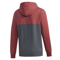 adidas Mens Essentials Colourblock Full Zip Hoodie Red XS, Red, rebel_hi-res