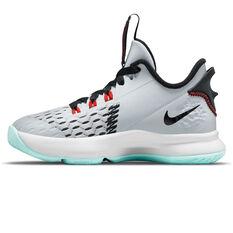 Nike LeBron Witness 5 Kids Basketball Shoes White US 11, White, rebel_hi-res