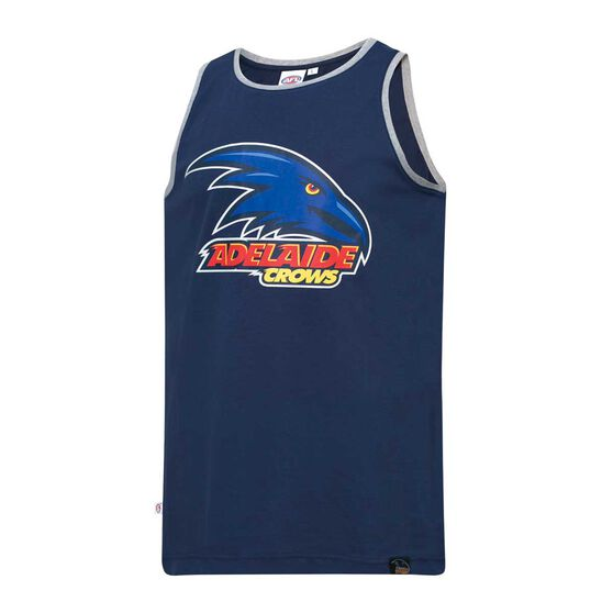 Adelaide Crows Mens Cotton Tank Singlet, , rebel_hi-res