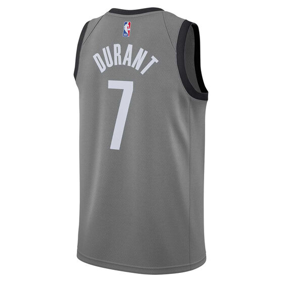 Jordan Brooklyn Nets Kevin Durant 2020/21 Mens Statement Edition Swingman Jersey, Grey, rebel_hi-res