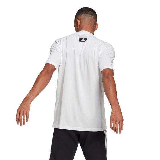 adidas Mens Badge of Sport Logo Tee, White, rebel_hi-res