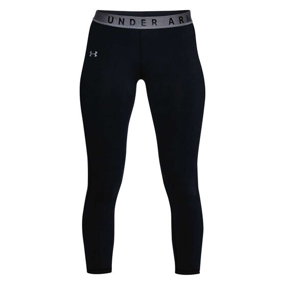 Under Armour Womens Favourites Crop Tights Black / Grey XS, Black / Grey, rebel_hi-res