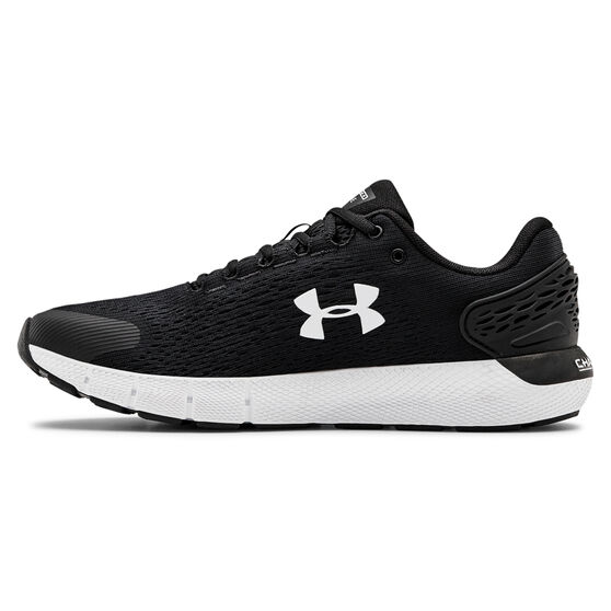 Under Armour Charged Rogue 2 2E Mens Running Shoes, Black/White, rebel_hi-res