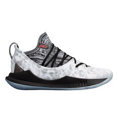 Under Armour Curry 5 Mens Basketball Shoes White / Black US 7, White / Black, rebel_hi-res