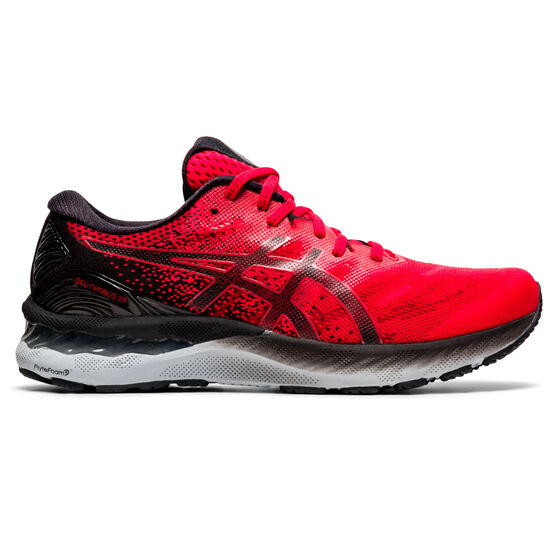 Asics GEL Nimbus 23 Mens Running Shoes, Red/Black, rebel_hi-res