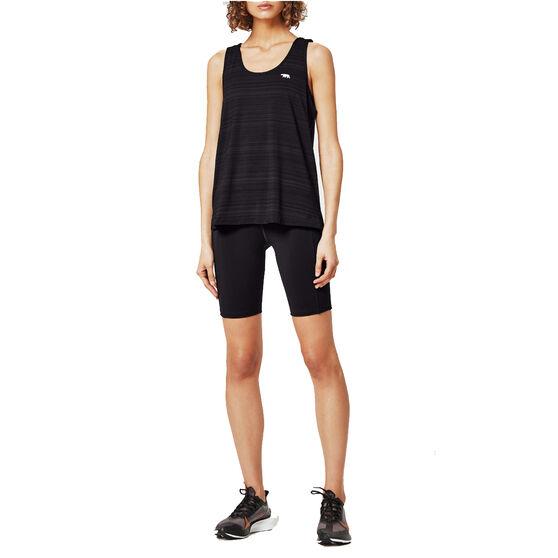Running Bare Womens Power Move Bike Shorts, Black, rebel_hi-res