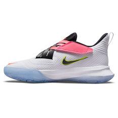 Nike Zoom Flight 2 Kids Basketball Shoes White US 4, White, rebel_hi-res