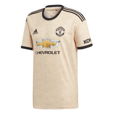 Manchester United 2019/20 Mens Away Jersey Brown / Black S, Brown / Black, rebel_hi-res