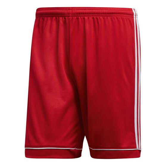 adidas Mens Squadra 17 Football Shorts, Red / White, rebel_hi-res