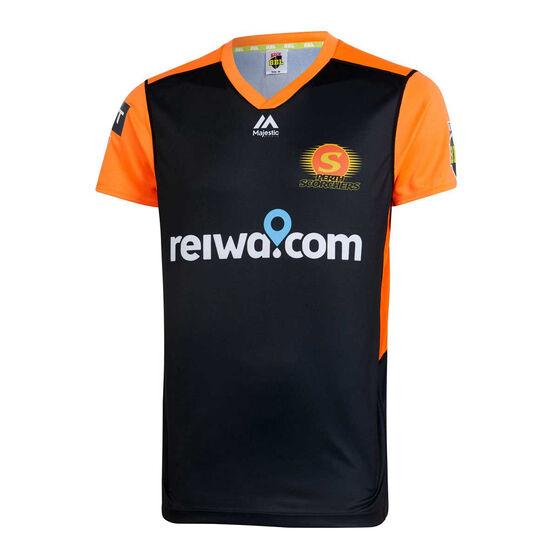 Perth Scorchers 2019/20 Mens Neon Nights BBL Jersey Black / Orange, Black / Orange, rebel_hi-res
