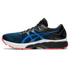 Asics GT 2000 9 4E Mens Running Shoes Black/Blue US 10, Black/Blue, rebel_hi-res