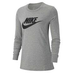 637708b27 Nike Womens Sportswear Long Sleeve Top Grey XS