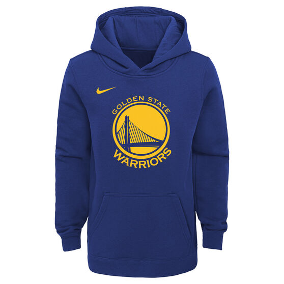 fd7cc8ffe04 Nike Youth Golden State Warriors Hoodie Blue   Yellow S
