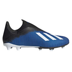 adidas X 19.3 Laceless Football Boots Blue / White US Mens 7 / Womens 8, Blue / White, rebel_hi-res