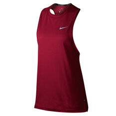 Nike Womens Tailwind Running Tank Red XS, Red, rebel_hi-res