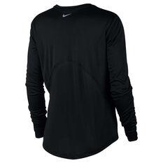 7cf848a5 ... Nike Womens Miler Running Top Black XS, Black, rebel_hi-res