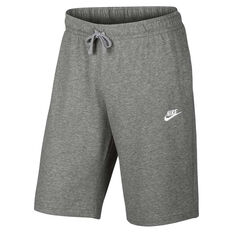 Nike Mens Jersey Club Shorts Grey / White S, Grey / White, rebel_hi-res