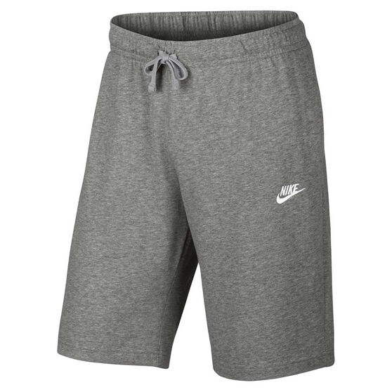 Nike Mens Jersey Club Shorts, Grey / White, rebel_hi-res