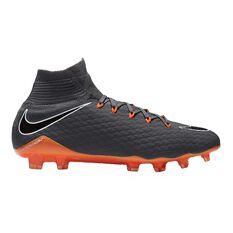 Nike Hypervenom Phantom III Pro Dynamic Fit Mens Football Boots Grey / Orange US 7 Adult, Grey / Orange, rebel_hi-res