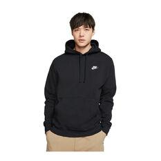 Nike Mens Sportswear Club Fleece Pullover Hoodie Black XS, Black, rebel_hi-res