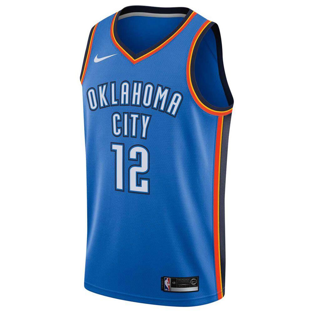 competitive price 49816 83fe3 Nike Oklahoma City Thunder Steven Adams 2018 Mens Swingman Jersey Signal  Blue S