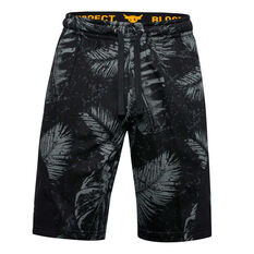 Under Armour Mens Project Rock Terry Shorts Black S, Black, rebel_hi-res