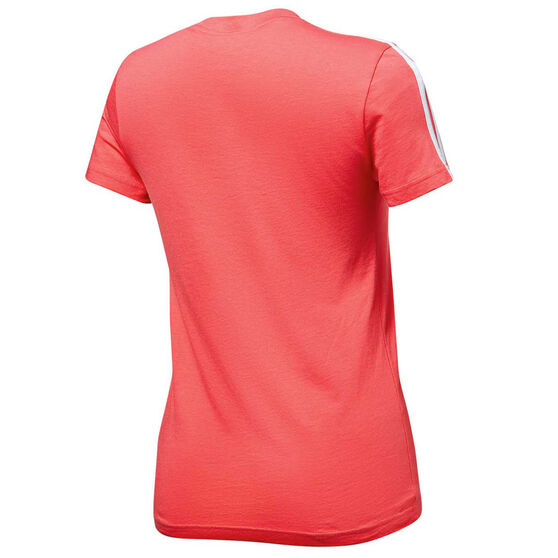 adidas Womens Essentials 3 Stripes Tee, Pink, rebel_hi-res