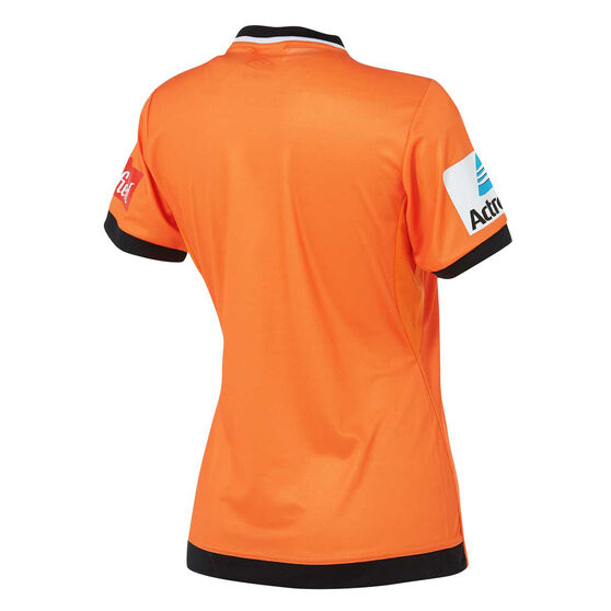 Brisbane Roar 2018 / 19 W - League Womens Home Jersey Orange / Black 10, Orange / Black, rebel_hi-res