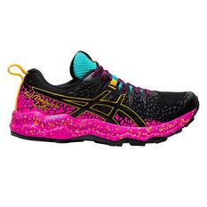 Asics Fuji Trabuco Lyte Womens Trail Running Shoes Black/Pink US 6, Black/Pink, rebel_hi-res