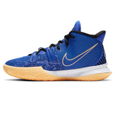 Nike Kyrie 7 Kids Basketball Shoes Blue US 4, Blue, rebel_hi-res