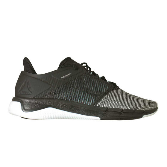Reebok Fast Flexweave Womens Running Shoes, Black / Blue, rebel_hi-res
