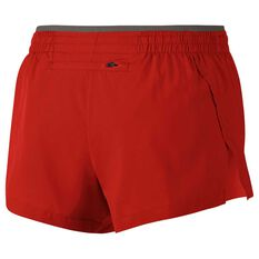 Nike Womens Elevate 3in Running Shorts Red / Grey XS Adult, Red / Grey, rebel_hi-res