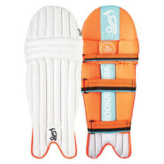 Kookaburra Rapid Pro 6.0 Junior Cricket Batting Pads White Youth, White, rebel_hi-res