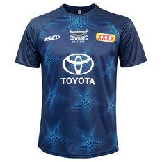 North Queensland Cowboys 2020 Mens Training Tee Blue S, Blue, rebel_hi-res
