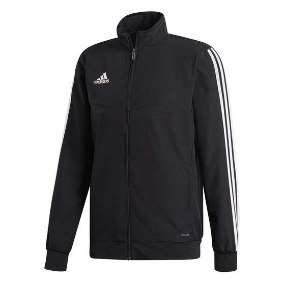 adidas Mens Tiro 19 Training Jacket, Black / White, rebel_hi-res