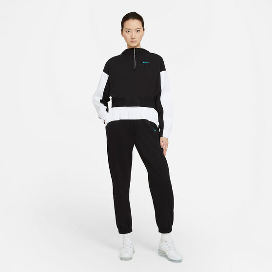 Nike Womens Sportswear Icon Clash Hoodie, Black, rebel_hi-res