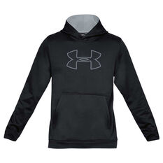 Under Armour Mens Performance Graphic Fleece Hoodie Black / Grey XS, Black / Grey, rebel_hi-res