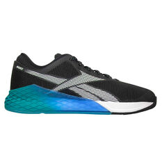 Reebok Nano 9 Mens Training Shoes, Black/Blue, rebel_hi-res