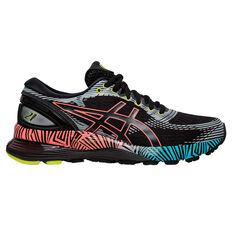 Asics GEL Nimbus 21 Liteshow 2.0 Womens Running Shoes Black / Orange US 6, Black / Orange, rebel_hi-res