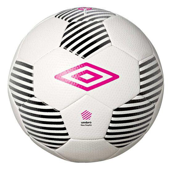 Umbro Neo Trophy Soccer Ball White / Black 5, White / Black, rebel_hi-res