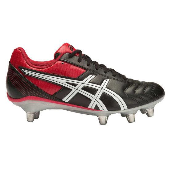 Asics Lethal Tackle Mens Football Boots Black / Red US 10, Black / Red, rebel_hi-res