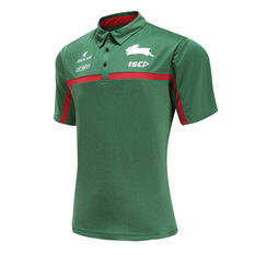South Sydney Rabbitohs 2020 Mens Performance Polo Green S, Green, rebel_hi-res