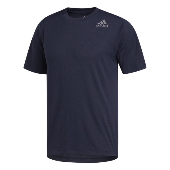 adidas Mens FreeLift Climachill 3-Stripes Tee, Navy, rebel_hi-res