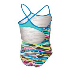 Zoggs Girls Abstract Swimsuit Multi 6, Multi, rebel_hi-res