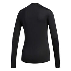 e94e27b985250d ... adidas Womens Own the Run Long Sleeve Tee Black XS, Black, rebel_hi-res