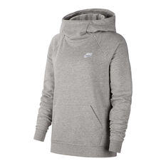 Nike Womens Sportswear Essentials Funnel Neck Fleece Hoodie Grey XS, Grey, rebel_hi-res